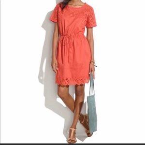 Madewell Orange Eyelet Wildfield Dress 6